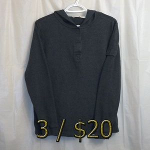 3/$20 Tommy Hilfiger Hoodie Shirt Small Gray